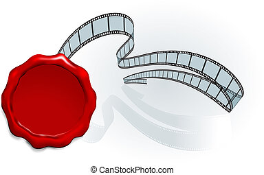 wax stamp Camera Film Strip background