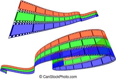 RGB Film strips on white