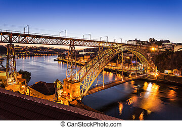 The Dom Luis Bridge - The Dom Luis I Bridge is a metal arch...