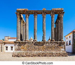 Roman Temple, Evora - The Roman Temple of Evora Templo...
