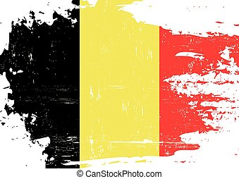 Belgian scratched Flag - An Belgian flag with a grunge...