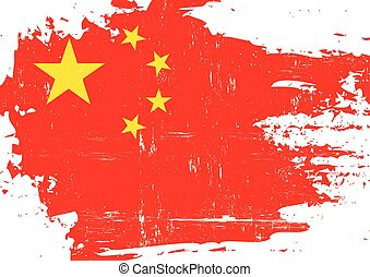 Chinese scratched Flag