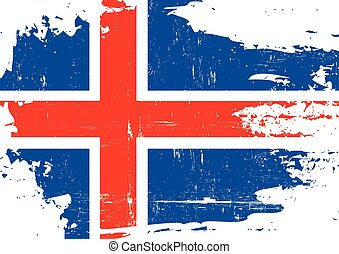 Iceland scratched Flag - An Icelandic flag with a grunge...