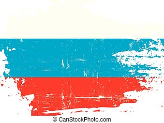 Russian scratched Flag