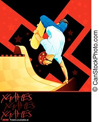 X-games skateboarding poster - X-games poster with a...