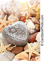 Heart shaped pebble.