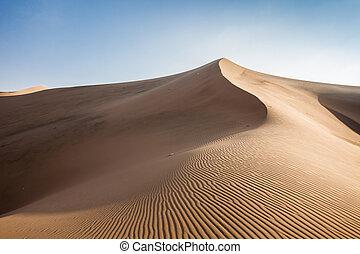 Huacachina desert dunes - Huacachina desert in Ica Region,...