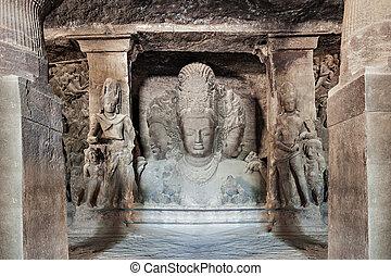 ilha, cavernas,  elephanta