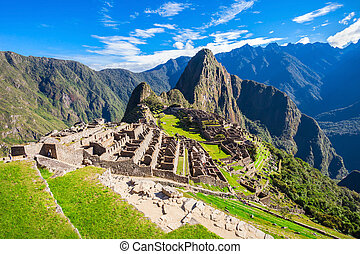 Machu Picchu - View of the Lost Incan City of Machu Picchu...
