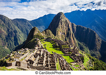 Machu Picchu, a UNESCO World Heritage Site in 1983. One of...
