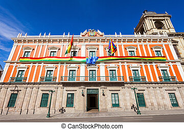 Plaza Murillo, LaPaz - Bolivian Palace of Government...