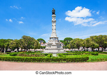 Afonso de Albuquerque Square, Lisbon, Portugal