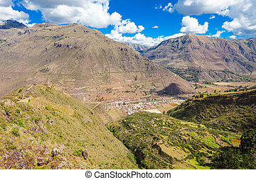 Inca Pisac, Peru - Pisac is a Peruvian village in the Sacred...
