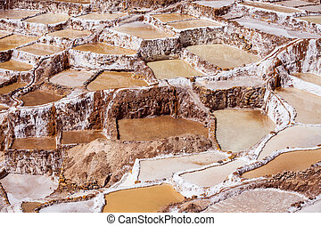 Salinas de Maras salt mine near Cusco, Peru