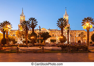 Basilica Cathedral, Arequipa - The Basilica Cathedral of...
