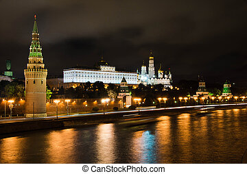 center of Moscow at night