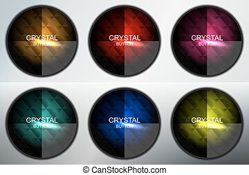 crystal button circle