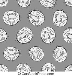 Abstract circles seamless pattern - Seamless vector pattern...