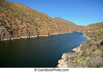 Apache Lake in Arizona on a Clear Sunny Day
