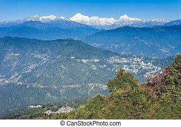 Kangchenjunga view, Gangtok - Kangchenjunga view from the...
