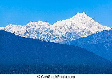 Kangchenjunga view, Gangtok - Kangchenjunga is the third...
