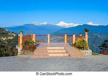 Viewpoint in Gangtok - Kangchenjunga view from the Tashi...