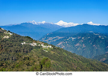Kangchenjunga view, Gangtok - Kangchenjunga view from the...