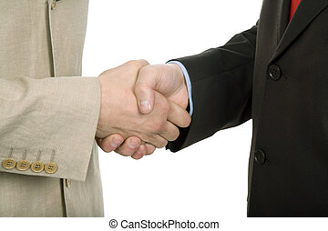 hand shake - Business team hand shake at the office