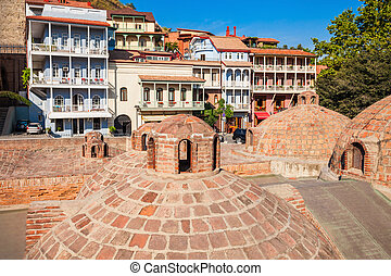 Abanotubani in Tbilisi - Abanotubani is the ancient district...