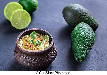 Bowl of guacamole hummus - guacamole hummus