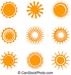 Sun Icons Original Vector Illustration Nsture Concept