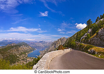 Kotor Bay - Montenegro - nature and architecture background