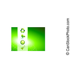 Nature Icons on Green Background