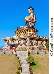 Buddha Park, Ravangla - 130 foot high statue of the Buddha...