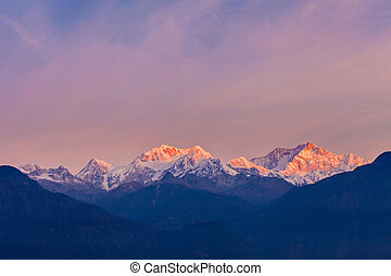 Kangchenjunga mountain view - Kangchenjunga sunrise view...