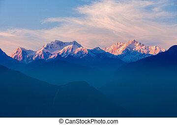 Kangchenjunga mountain view - Kangchenjunga sunset view from...