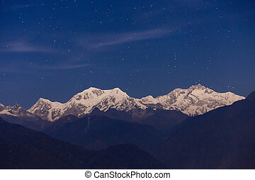 Kangchenjunga mountain view - Kangchenjunga night view from...