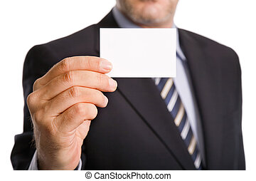 businesscard - hand of businessman offering businesscard on...