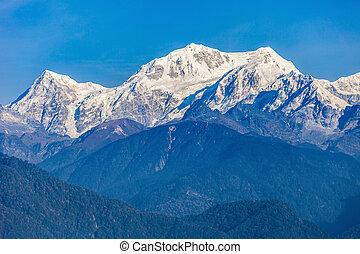 Kangchenjunga mountain view - Kangchenjunga close up view...