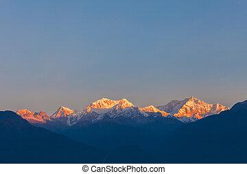 Kangchenjunga mountain view - Kangchenjunga sunrise view...