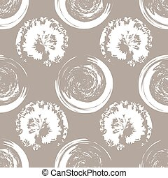 White blots on white coffee back. - Seamless pattern of...
