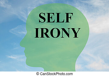 Self Irony concept - Render illustration of Self Irony title...