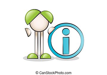 Information Symbol and Cartoon Characters