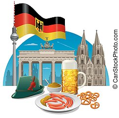 germany concept illustration