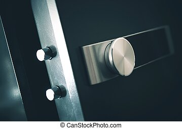 Open Residential Safe. Safecracking Concept. Burglar Safe...
