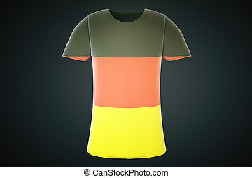 German flag tshirt front - T-shirt with a German flag print...