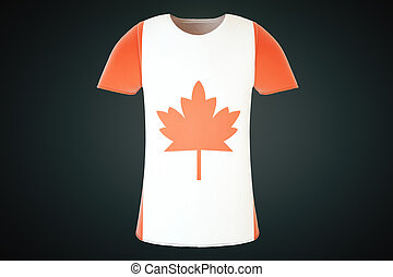 Canadian flag t-shirt front - T-shirt with a Canadian flag...