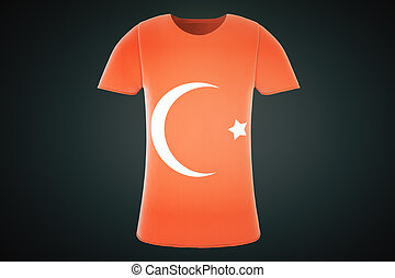 T-shirt Turkish flag front - T-shirt with a Turkish flag...