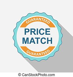 Price Match Quality Label Set in Flat Modern Design with...