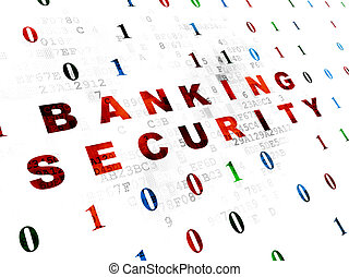 Protection concept: Banking Security on Digital background